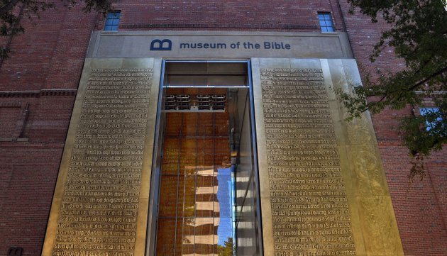 the-washington-postmichael-s-williamson-the-entrance-to-the-museum-of-the-bible-features-relief-metal-lettering-of-scriptures-in-latin