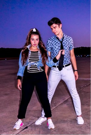"Courtesy Photo Taylor Edwards is Ariel and Michael Myers is Ren in the Pilot Arts production of ""Footloose."""