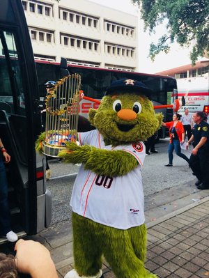 Kyle Hamsher, who graduated from North Pulaski High School in 2003, has performed as a sports mascot for