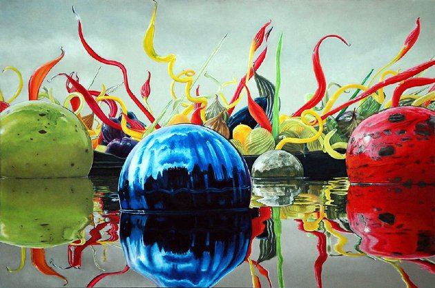 glass-balls-floating-chihuly-by-russell-mackensen-is-part-of-the-arkansas-pastel-society-reflections-in-pastel-exhibition-at-the-butler-center-for-arkansas-studies