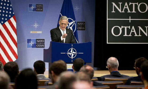 us-secretary-for-defense-jim-mattis-speaks-during-a-media-conference-after-a-meeting-of-nato-defense-ministers-at-nato-headquarters-in-brussels-on-thursday-nov-9-2017-ap-photovirginia-mayo