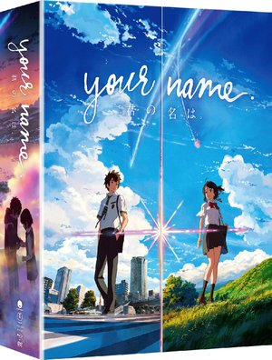 DVD box for Your Name, directed by Makoto Shinkai