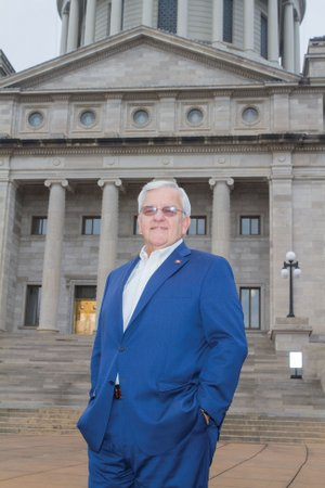 State Sen. Eddie Joe Williams, R-Cabot, stands in front of the Arkansas State Capitol, where he has served since 2011. Williams was recently appointed by President Donald Trump as the federal representative to the Southern States Energy Board. Williams said he will resign his elected position when he is sworn in as a member of the board in the near future.