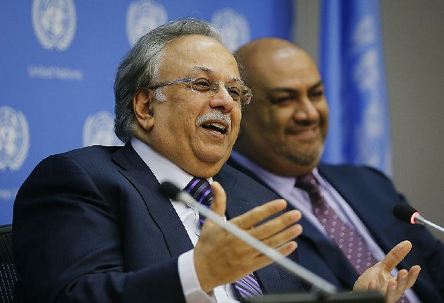 abdallah-al-mouallimi-left-a-saudi-arabian-ambassador-and-yemeni-envoy-khaled-hussein-al-yamani-speak-monday-at-un-headquarters