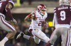 Arkansas running back Devwah Whaley carries the ball during a game against Mississippi State on Saturday, Nov. 19, 2016, in Starkville, Miss.
