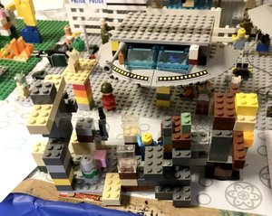 "Photo by Tina Crose Garrett May, 9, of Gravette, took first place in the fifth annual Great Lego Build-Off at Imagine Before and After School Care Nov. 11 with an elaborate model he titled ""Zombie Apocalypse."" Garrett received a hat, Lego cup and a set of Legos."