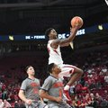 Arkansas guard Daryl Macon drives to the rim. The Razorbacks beat Bucknell 101-73 Sunday Nov. 12, 20...