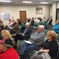 Washington County residents wait for the Quorum Court to decide whether to raise the property tax ra...