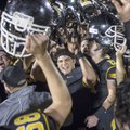 Prairie Grove players celebrate Friday after defeating Stuttgart in a playoff game in Prairie Grove.
