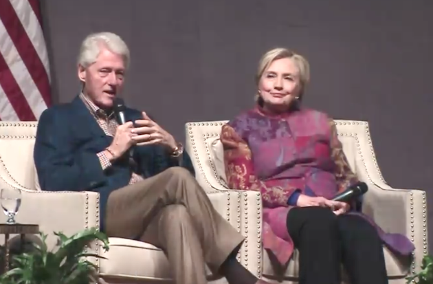 bill-and-hillary-clinton-are-shown-in-this-screenshot-from-the-clinton-school-of-public-service-live-broadcast-of-their-lecture-saturday-night-in-little-rock