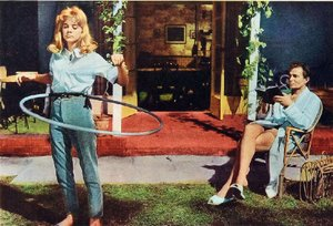 Sue Lyon and James Mason starred in Stanley Kubrick's Lolita, first a controversial book by Vladimir Nabokov.
