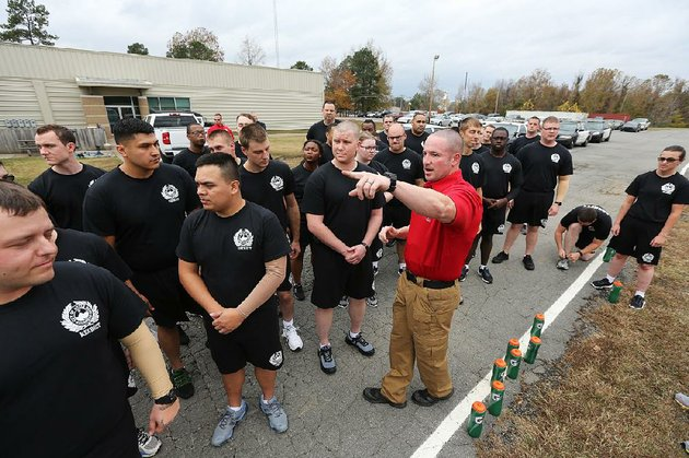 training-instructor-joe-hill-gives-instructions-to-recruits-before-their-physical-training-drills-friday-at-the-little-rock-police-academy