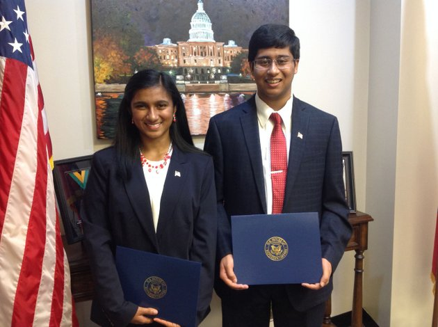 arthi-krishna-left-and-brother-arjun-krishna-won-the-2017-congressional-app-challenge-for-us-rep-steve-womacks-3rd-congressional-district-of-arkansas-the-bentonville-high-school-students-designed-an-application-called-bookgazers-thats-meant-to-encourage-children-to-read