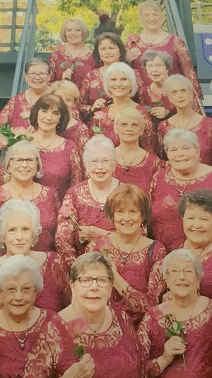 Submitted Photo The ladies of the singing group, Perfect Harmony, will attend the open house at the Gravette Historical Museum Dec. 2 and sing carols. They will provide musical accompaniment for the event. Activities will begin about 5 p.m., immediately following the annual parade.