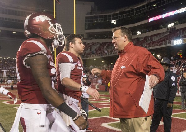 Bret Bielema fired within an hour of Arkansas' season-ending loss