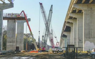 Bridge work: Construction of the new bridge over the Ouachita River on U.S. 167 near Calion, continues and according to earlier reports from the Arkansas State Highway and Transportation Department, work to create another two lanes of traffic over the bridge will be completed in 2018.