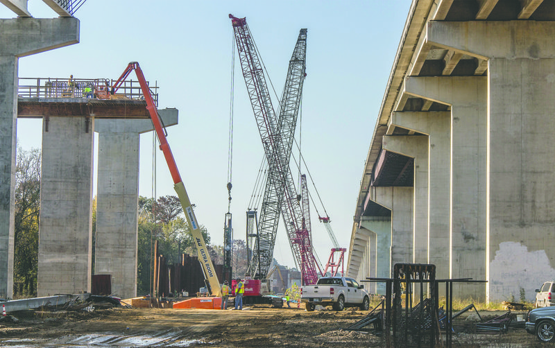 Work Continues On New Bridge Over Ouachita River
