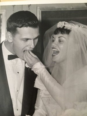 """Ruth and Ray Liebau were married on Nov. 26, 1960, at the Church by the Sea. Ray accompanied Ruth on the piano while she sang throughout college, and then he accompanied her to dinner and movies. """"It was such a natural thing,"""" he says. """"Neither one of us had to make up excuses because it was almost time for this or that and very soon we were spending lots of time together and having great, great fun getting through our college years together."""""""