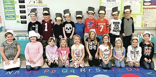 Submitted photo First-grade students in Haley Thornton's class at Cutter Morning Star Elementary School recently made and wore pilgrim hats for a Thanksgiving lunch. They learned about the Pilgrims, the Mayflower and the history of the Thanksgiving holiday.