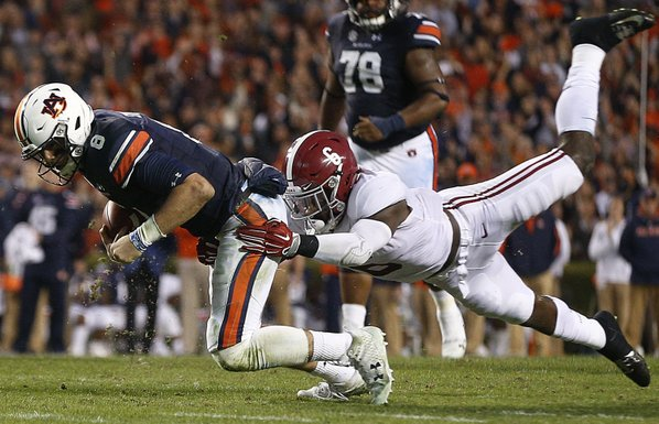 #6 Auburn takes down #1 Alabama in 82nd Iron Bowl