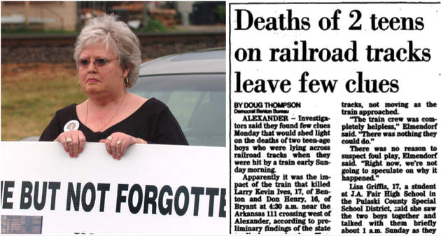 at-left-linda-ives-in-shown-in-this-2007-file-photo-at-right-the-initial-1987-coverage-in-the-arkansas-democrat-on-the-deaths-of-ives-17-year-old-son-kevin-and-16-year-old-don-henry