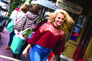 Campaign: A promotional campaign featuring Miss America 2017 Savvy Shields in holiday scenes from downtown El Dorado. The campaign, which is funded by the El Dorado Advertising and Promotion Commission, kicks off today with TV and print ads around the state and on social media.