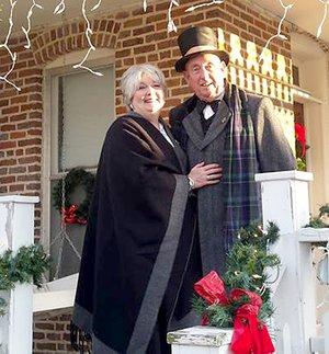 "WESTSIDE EAGLE OBSERVER/Susan Holland ""Mr. and Mrs. Kindley"" will be hosting tours of the museum again this year. Santa Claus will also be on hand to listen to children's wishes and will have candy treats for each one."