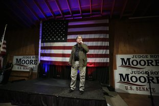 The Associated Press BANNON SPEAKS: In this Monday, Sept. 25, 2017 file photo, former White House strategist Steve Bannon speaks at a rally for U.S. Senate hopeful Roy Moore in Fairhope, Ala.