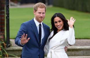 The Associated Press ROYAL WEDDING: Britain's Prince Harry and Meghan Markle pose for the media in the grounds of Kensington Palace in London, Monday Nov. 27, 2017. It was announced Monday that Prince Harry, fifth in line for the British throne, will marry American actress Meghan Markle in the spring, confirming months of rumors.