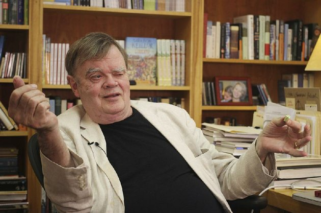 in-this-july-26-2017-file-photo-garrison-keillor-creator-and-former-host-of-a-prairie-home-companion-talks-at-his-st-paul-minn-office-keillor-said-wednesday-nov-29-hes-been-fired-by-minnesota-public-radio-over-allegations-of-improper-behavior