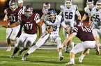 Greenwood quarterback Connor Noland (center) has helped lead the Bulldogs to the Class 6A championship game for the third consecutive season, taking on Pine Bluff tonight at War Memorial Stadium in Little Rock. The Bulldogs lost to Russellville in the title game last season and to Pine Bluff in 2015.