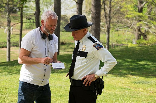 writer-director-martin-mcdonagh-confers-with-woody-harrelson-on-the-set-of-his-latest-film-the-black-comedy-three-billboards-outside-ebbing-missouri