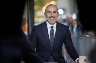 """This Nov. 16, 2017 photo released by NBC shows Matt Lauer during a broadcast of the """"Today,"""" show in New York. NBC News fired the longtime host for """"inappropriate sexual behavior."""" Lauer's co-host Savannah Guthrie made the announcement at the top of Wednesday's """"Today"""" show. (Zach Pagano/NBC via AP)"""