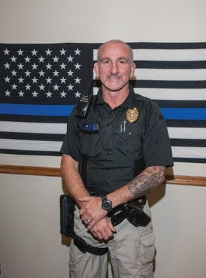 William McGlothlin stands inside the Bald Knob Police Department, where he now serves as chief of police, having started in the position Oct. 20. McGlothlin has worked for the department since April 2004, starting as a part-time officer and working his way up the ranks.