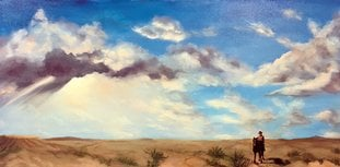 "Submitted photo PARTY: The annual Chanukah Party and Prime Time Artists' exhibit will take place from noon to 5 p.m. Sunday at the Katchen Art Studio, 620 W. Grand Ave. The open house will feature such Jewish specialty foods and paintings by Katchen's students and guest artists, including this piece, ""On the Texas Plains,"" an oil painting by Karen Holcum."