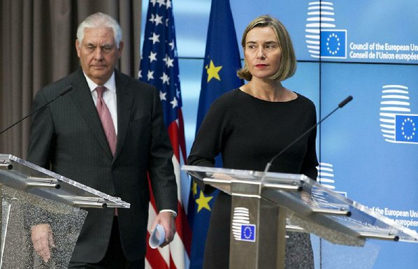 Mogherini, Tillerson discuss Jerusalem, Iran