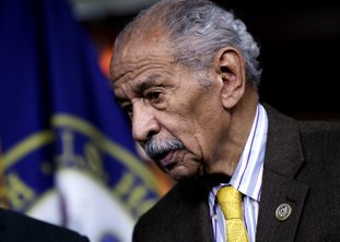 The Associated Press CONYERS RESIGNS: In this file photo from Feb. 14 Rep. John Conyers, D-Mich., attends a news conference on Capitol Hill in Washington. Besieged by allegations of sexual harassment, Conyers resigned from Congress on Tuesday bringing an abrupt end to the civil rights leader's nearly 53-year career on Capitol Hill.