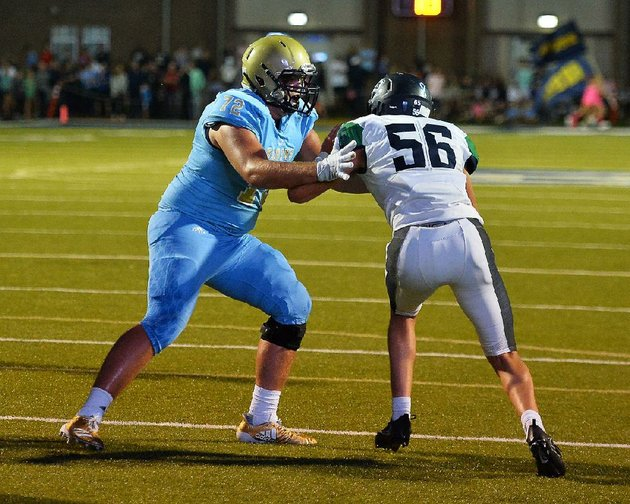 pulaski-academy-offensive-tackle-luke-jones-left-blocks-little-rock-christian-defensive-end-jack-mabry-56-during-friday-nights-game-at-joe-b-hatcher-stadium-in-little-rock-special-to-the-democrat-gazettejimmy-jones
