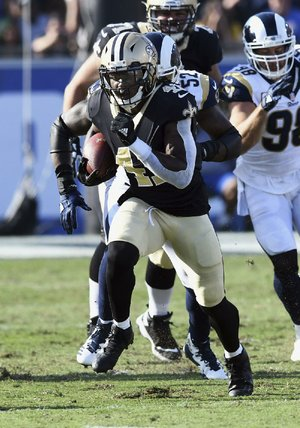 New Orleans Saints running back Alvin Kamara has accounted for 11 touchdowns this season for the Saints, who lead the Carolina Panthers by one game in the NFC South.