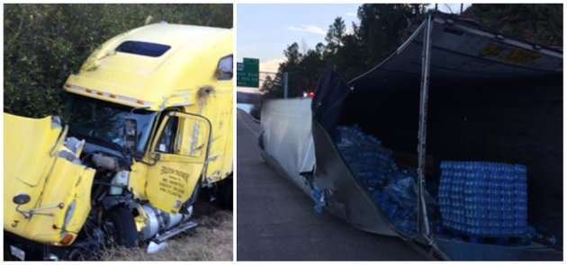 these-photos-from-the-arkansas-department-of-transportation-shows-an-overturned-18-wheeler-on-i-430-on-thursday-morning