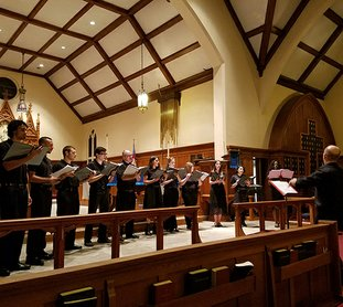 """Submitted photo MIDWINTER: National Park College Singers presented """"Midwinter"""" for their holiday choral concert Tuesday at St. Luke's Episcopal Church."""