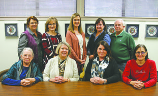 Magdalene Board: Pictured are members of the Magdalene House Board standing from left: Regina Pierce; Regina Lambert; Benita Burton; Beth Callaway and Don Williams. Seated from left: Connie Tarver, vice president; Becky Choate, president; Reneé Skinner and Alison Burroff.