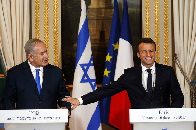 french-president-emmanuel-macron-right-and-israeli-prime-minister-benjamin-netanyahu-attend-a-news-conference-after-a-meeting-sunday-at-the-elysee-palace-in-paris