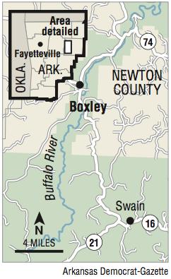 PHOTOS: Crews battle blaze near Buffalo National River