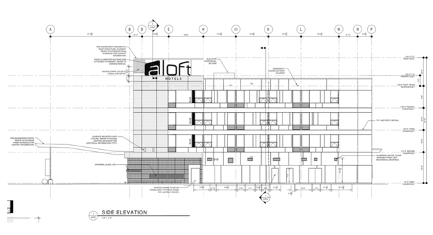 a-side-elevation-sketch-of-the-planned-aloft-hotel-at-716-rahling-road-in-west-little-rock