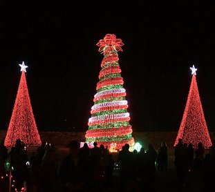 the sentinel recordmara kuhn light show the 50 ft tall rose - Garvan Gardens Christmas Lights