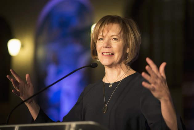 file-in-this-jan-10-2015-file-photo-minnesota-democratic-lt-gov-tina-smith-speaks-to-attendees-at-the-north-star-ball-in-st-paul-minn-minnesota-gov-mark-dayton-is-set-to-name-his-choice-to-replace-al-franken-in-the-us-senate-with-the-top-contender-seen-as-lt-gov-smith-dayton-was-expected-to-make-the-appointment-wednesday-dec-13-2017-nearly-a-week-after-franken-announced-his-plan-to-resign-over-allegations-of-sexual-misconduct-aaron-lavinskystar-tribune-via-ap-file