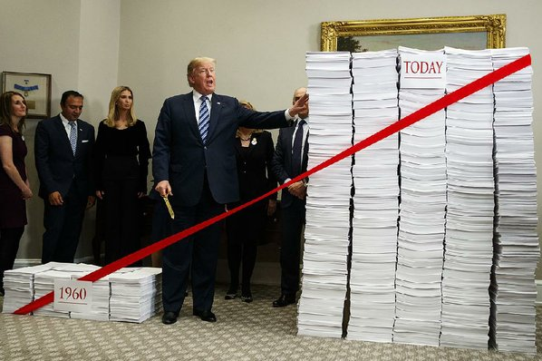 Trump cuts red tape at White House event touting deregulation