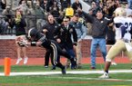 Ty Galyean scores in a 2015 game against Navy with the Sprint Football team at West Point Military Academy. The former Rogers High standout was a captain of the Army team that won the 2017 Collegiate Sprint Football League.