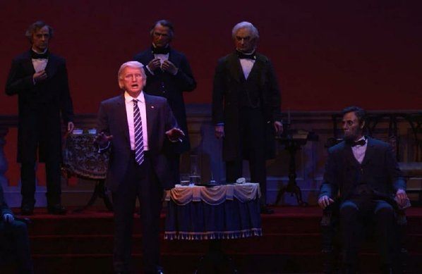 Donald Trump Makes Disney Great Again, #45 Featured in 'Hall of Presidents'